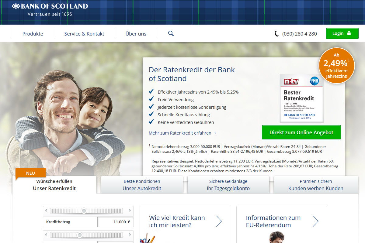 Bank of Scotland Homepage
