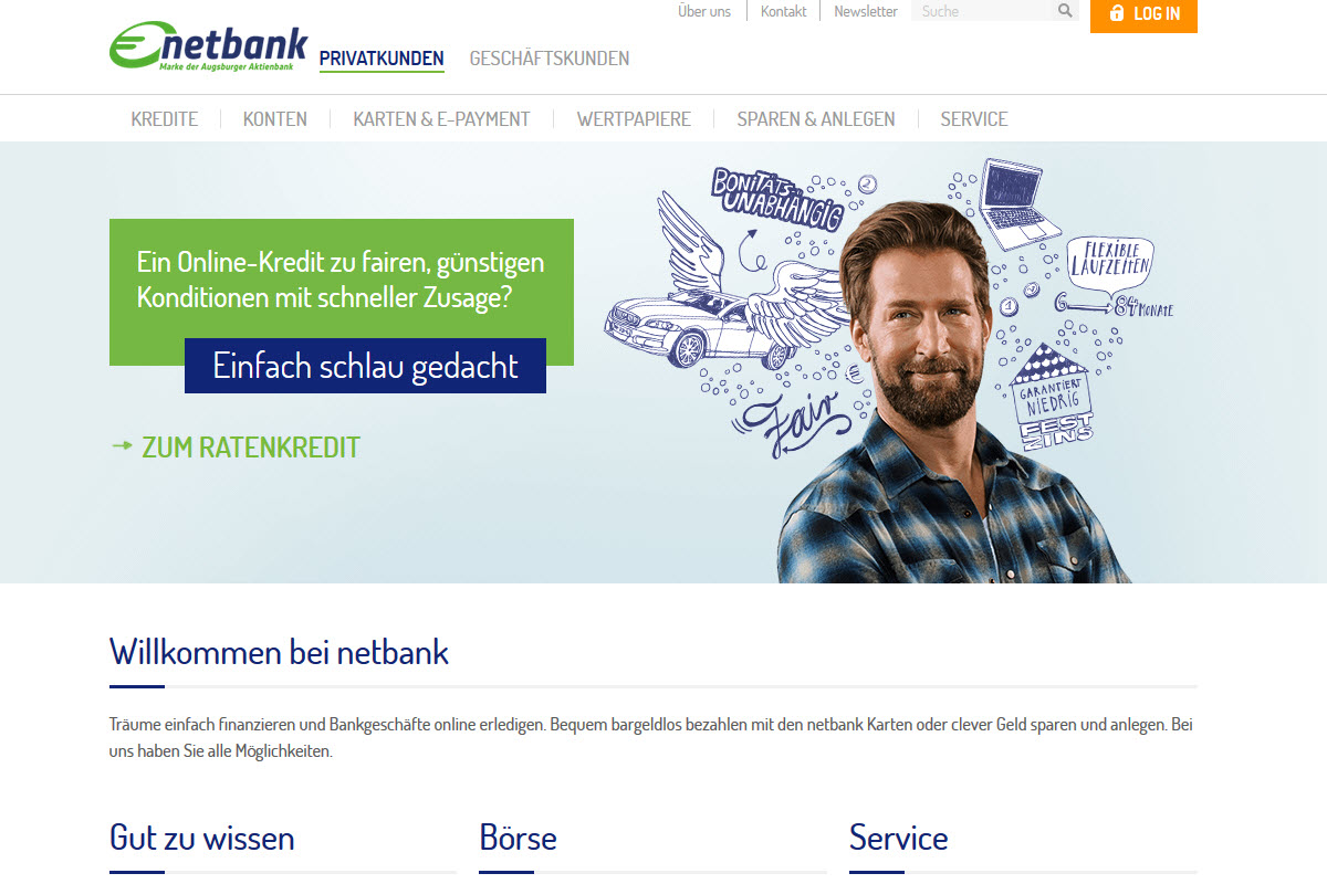 netbank Homepage