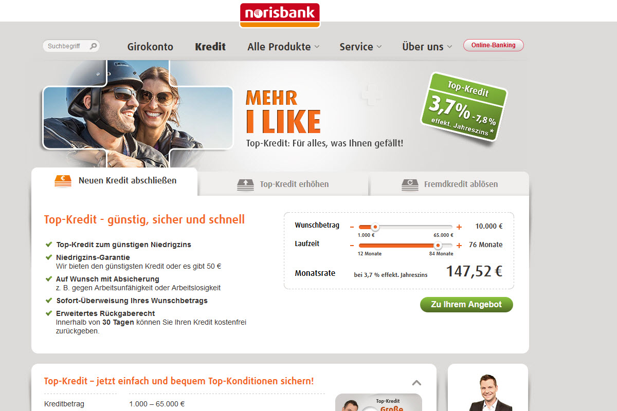 Norisbank Homepage