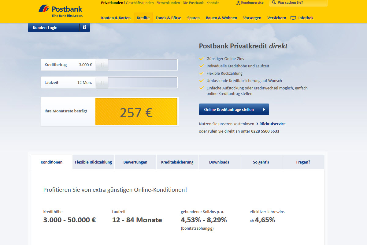 Postbank Homepage