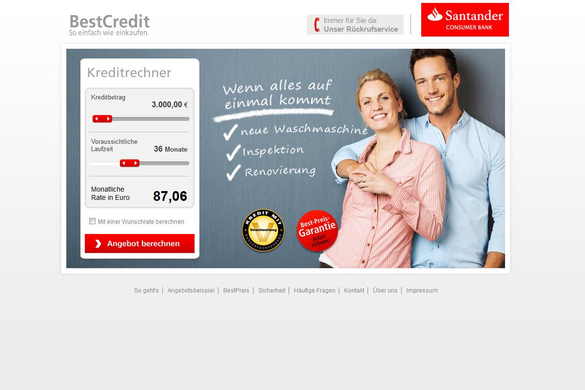 Santander Bank Homepage